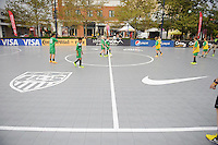 COLUMBUS, OH - US Soccer Futsal court at the Fan HQ.