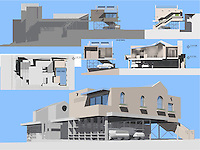 Inspired Solution for our Community submitted by Architecture for Humanity SD Chapter: Michael Fontanilla, Sandra Plaza, Christina Rodriguez. FSDA's ADU Competition 2004. Board 2.