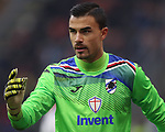Emil Audero of Sampdoria organises the defence during the Serie A match at Giuseppe Meazza, Milan. Picture date: 6th January 2020. Picture credit should read: Jonathan Moscrop/Sportimage