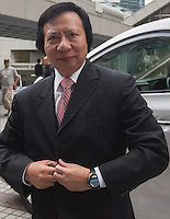 Billionaire property developer Thomas Kwok is seen arriving at the High Court of Hong Kong on day one of Hong Kong's most high profile corruption case in history, Hong Kong, China, 08 May 2014. The two property tycoon Kwok brothers Thomas and Raymond Kwok, as well as Rafael Hui who was once Hong Kong's second most senior official, are being charged with misconduct in public office relating to a high profile bribery scandal.
