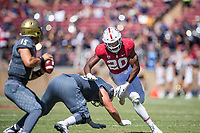 STANFORD, CA -- September 15, 2018. The Stanford Cardinal football team defeats the UC Davis Aggies 30-10 at Stanford Stadium.