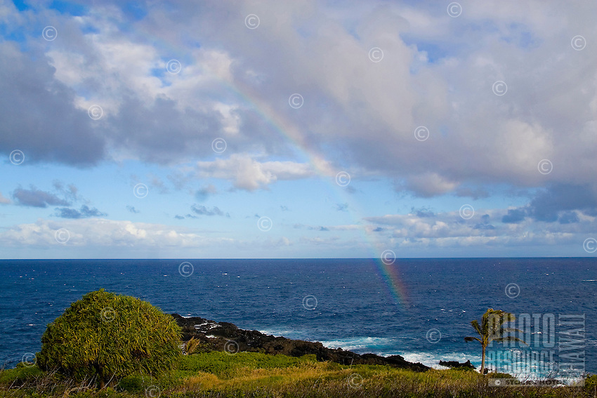 Rainbow off the coast of Hana, Maui.