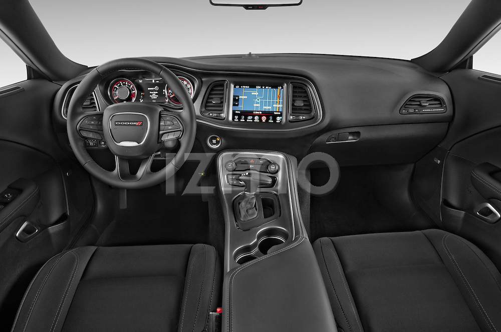 Stock photo of straight dashboard view of 2017 Dodge Challenger SXT 2 Door Coupe Dashboard