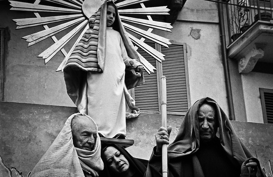 "Easter celebrations with the traditional ""tableau vivant"" illustrating famous scenes from the bible in the small town of Orsogna in Abruzzo, Italy."