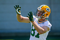Green Bay Packers wide receiver Jordy Nelson (87) during an OTA on June 1, 2017 at Clark Hinkle Field in Green Bay, Wisconsin. (Brad Krause/Krause Sports Photography)