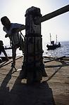ITALY, Sicily, Egedian island Favignana, La Mattanza, traditional fishing of bluefin Tuna fish