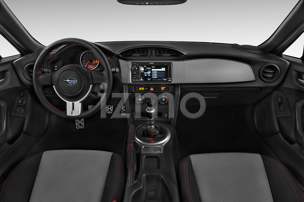 Stock photo of straight dashboard view of a 2015 Subaru BRZ Limited AT 2 Door Coupe Dashboard