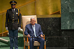 LOS general debate &ndash; 27 September<br /> <br /> AM<br /> <br /> His Excellency Mahmoud Abbas, President, State of Palestine