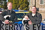 1807-1809.---------.Turbo Power.-----------.Vince O Shea and his Navigator Brian Hickey both from Kenmare about to light the narrow roads at the Rally of the Lakes last Weekend in Killarney.