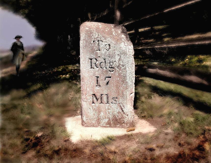 mile marker, old mile marker, historic road marker