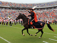 The Virginia cavalier mascot during the game in Charlottesville, VA. Virginia lost to UCLA 28-20. Photo/Andrew Shurtleff
