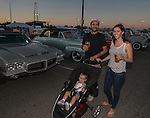 Daniel, Brittany and 14 month old Everly enjoy Hot August Nights at the Grand Sierra Resort on Tuesday, August 2, 2016.