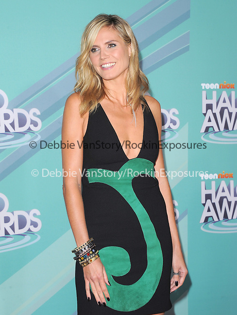 Heidi Klum at The 2011 TeenNick Halo Awards held at The Hollywood Palladium in Hollywood, California on October 26,2011                                                                               © 2011 Hollywood Press Agency