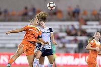 Houston, TX - Saturday July 15, 2017: Amber Brooks and Estefanía Banini during a regular season National Women's Soccer League (NWSL) match between the Houston Dash and the Washington Spirit at BBVA Compass Stadium.