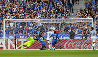 Harry Kane (Tottenham Hotspur) of England scores a goal to make it 1 0  during the International Friendly match between France and England at Stade de France, Paris, France on 13 June 2017. Photo by David Horn/PRiME Media Images.