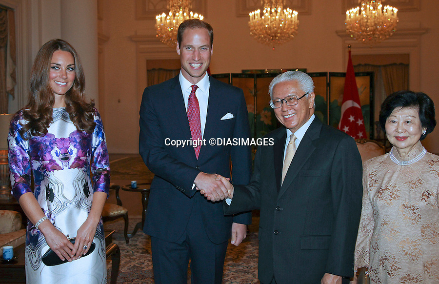 """""""""""NO UK USE FOR 28 DAYS UNTIL 9TH OCTOBER 2012"""".CATHERINE, DUCHESS OF CAMBRIDGE AND PRINCE WILLIAM.atend a State Recption and Dinner given by President Mr Tony Tan's and wife Mary Chee at Istana, Singapore._11/09/2012.Mandatory credit photo: ©Dias/DIASIMAGES..                **ALL FEES PAYABLE TO: """"NEWSPIX INTERNATIONAL""""**..IMMEDIATE CONFIRMATION OF USAGE REQUIRED:.DiasImages, 31a Chinnery Hill, Bishop's Stortford, ENGLAND CM23 3PS.Tel:+441279 324672  ; Fax: +441279656877.Mobile:  07775681153.e-mail: info@newspixinternational.co.uk"""