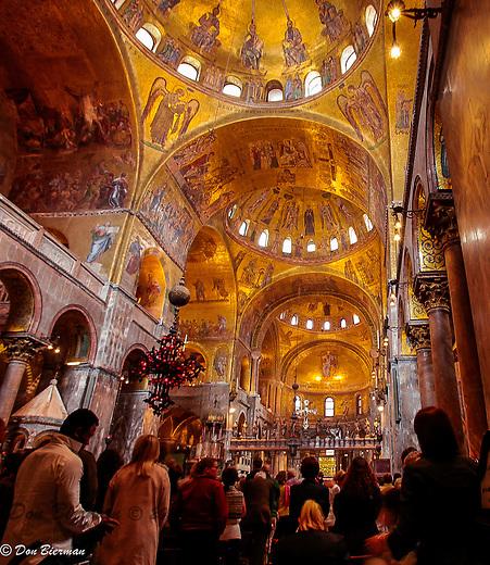 Piazza San Marco, interior of Basilica di S. Marco. Venice, Italy