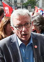 September 23 2017, Paris, France - Demonstration against the Reform of Labour Law led by the French politician Jean-Luc Melenchon Leader of 'La France Insoumise'. Pierre Laurent of the Communist Party was present. # MANIFESTATION CONTRE LA LOI TRAVAIL EN FRANCE