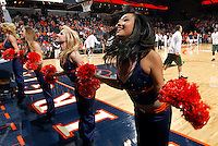 CHARLOTTESVILLE, VA- JANUARY 7: Virginia Cavalier dancers perform during the game against the Miami Hurricanes on January 7, 2012 at the John Paul Jones Arena in Charlottesville, Virginia. Virginia defeated Miami 52-51. (Photo by Andrew Shurtleff/Getty Images) *** Local Caption ***