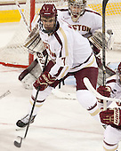 Isaac MacLeod (BC - 7) - The Boston College Eagles defeated the University of Vermont Catamounts 4-1 on Friday, February 1, 2013, at Kelley Rink in Conte Forum in Chestnut Hill, Massachusetts.