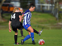 Action from the Women's Northern Premier League 2017 / Knockout Cup football match between Forrest Hill Milford United and Papakura City at Becroft Park in Forrest Hill, Auckland, New Zealand on Sunday, 4 June 2017. Photo: Dave Lintott / lintottphoto.co.nz