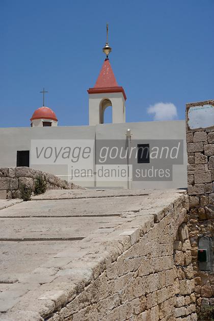 Asie/Israël/Galilée/Saint-Jean-d'Acre: l'église St Jean sur les remparts