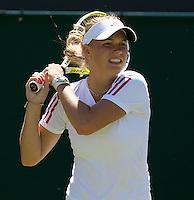 Caroline Wozniacki (DEN) (9) against Kimiko Date Krumm (JPN) in the first round of the ladies singles. Wozniacki beat Krumm 5-7 6-3 6-1 ..Tennis - Wimbledon - Day 2 - Tues 23rd June 2009 - All England Lawn Tennis Club  - Wimbledon - London - United Kingdom..Frey Images, Barry House, 20-22 Worple Road, London, SW19 4DH.Tel - +44 20 8947 0100.Cell - +44 7843 383 012