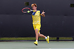14 May 2016: Michigan's Runhao Hua (CHN). The Wake Forest University Demon Deacons hosted the University of Michigan Wolverines at the Wake Forest Tennis Center in Winston-Salem, North Carolina in a 2015-16 NCAA Division I Men's Tennis Tournament Second Round match. Wake Forest won the match 4-2.