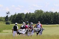 Joel Stalter (FRA) walks off the 1st tee to start his match during Friday's Round 2 of the 117th U.S. Open Championship 2017 held at Erin Hills, Erin, Wisconsin, USA. 16th June 2017.<br /> Picture: Eoin Clarke | Golffile<br /> <br /> <br /> All photos usage must carry mandatory copyright credit (&copy; Golffile | Eoin Clarke)