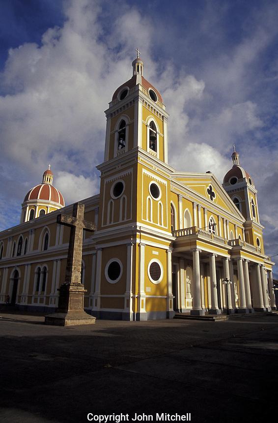 Restored cathedral in Granada, Nicaragua