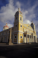 Restored cathedral in Granada, Nicaragua