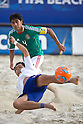 (L-R) Shusei Yamauchi (JPN), Francisco Cati (MEX), SEPTEMBER 02, 2011 - Beach Soccer : FIFA Beach Soccer World Cup Ravenna-Italy 2011 Group D match between Japan 2-3 Mexico at Stadio del Mare, Marina di Ravenna, Italy, (Photo by Enrico Calderoni/AFLO SPORT) [0391]