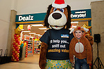 Thomas O'Brien with Dougie at the opening of the Dealz new store in Mulling Co West Meath.<br /> <br /> Picture Newsfile/Professional Images