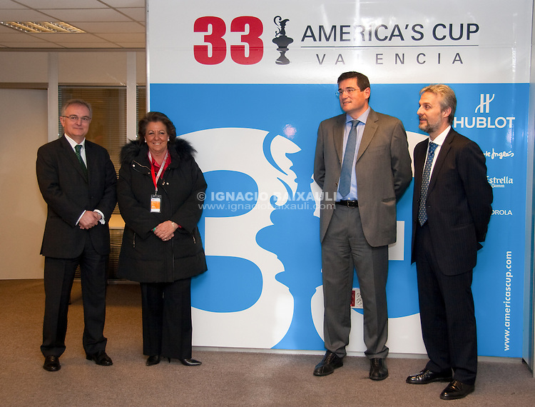 Opening of the media center. 4/2/2010 Port America's Cup Valencia, Spain
