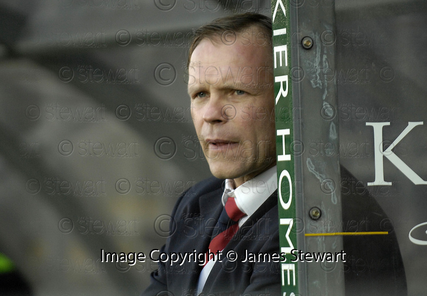 03/02/2007       Copyright Pic: James Stewart.File Name : sct_jspa20_falkirk_v_st_johnstone.JOHN HUGHES WATCHES HIS TEAM GO OUT OF A CUP FOR THE SECOND TIME IN A WEEK.....James Stewart Photo Agency 19 Carronlea Drive, Falkirk. FK2 8DN      Vat Reg No. 607 6932 25.Office     : +44 (0)1324 570906     .Mobile   : +44 (0)7721 416997.Fax         : +44 (0)1324 570906.E-mail  :  jim@jspa.co.uk.If you require further information then contact Jim Stewart on any of the numbers above.........