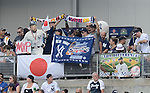 Fans of Hideki Matsui,<br /> JULY 28, 2013 - MLB :<br /> Hideki Matsui's official retirement ceremony before the Major League Baseball game between the Tampa Bay Rays and the New York Yankees at Yankee Stadium in The Bronx, New York, United States. (Photo by AFLO)