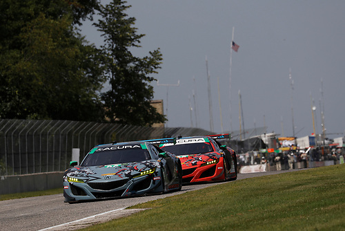 #93 Michael Shank Racing with Curb-Agajanian Acura NSX, GTD: Lawson Aschenbach, Justin Marks, #86 Michael Shank Racing with Curb-Agajanian Acura NSX, GTD: Katherine Legge, Alvaro Parente