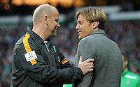 FUSSBALL   1. BUNDESLIGA    SAISON 2012/2013    8. Spieltag   SV Werder Bremen - Borussia Moenchengladbach  20.10.2012 Trainer Thomas Schaaf (li) und Clemens Fritz (re, beide Werder Bremen)