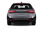 Straight rear view of a 2017 KIA Optima Sportswagon Sense 5 Door Wagon stock images