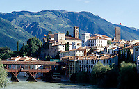 Italien, Venetien-Friaul, Bassono di Grappa, Brenta-Brücke von Andrea Palladio