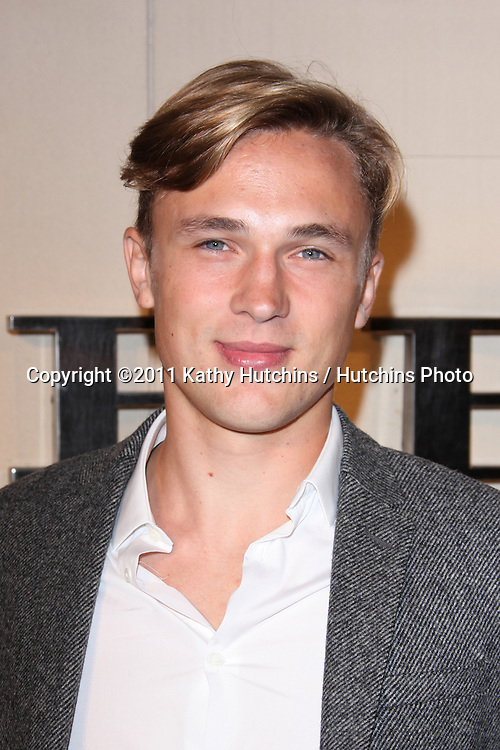 LOS ANGELES - OCT 26:  William Moseley  arriving at the Burberry Body Launch at Burberry on October 26, 2011 in Beverly Hills, CA