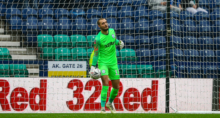 Preston North End's Michael Crowe warms up before kick off<br /> <br /> Photographer Alex Dodd/CameraSport<br /> <br /> The Emirates FA Cup Third Round - Preston North End v Doncaster Rovers - Sunday 6th January 2019 - Deepdale Stadium - Preston<br />  <br /> World Copyright &copy; 2019 CameraSport. All rights reserved. 43 Linden Ave. Countesthorpe. Leicester. England. LE8 5PG - Tel: +44 (0) 116 277 4147 - admin@camerasport.com - www.camerasport.com