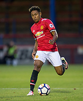 Demi Mitchell of Manchester United during the U23 Premier League 2 match between Chelsea and Manchester United at the EBB Stadium, Aldershot, England on 18 September 2017. Photo by Andy Rowland.