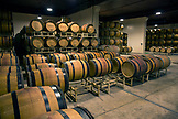 USA, Oregon, Willamette Valley, the wine cellar and barrel room at Domaine Drouhin, Dundee