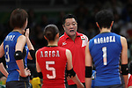 Masayoshi Manabe (JPN), <br /> AUGUST 6, 2016 - Volleyball : <br /> Women's Preliminary Pool A<br /> between Japan 1-3 South Korea<br /> at Maracanazinho <br /> during the Rio 2016 Olympic Games in Rio de Janeiro, Brazil. <br /> (Photo by Koji Aoki/AFLO SPORT)