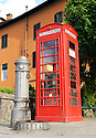 "SAGRA DEL ""PESCE E PATATE"" 2011, BARGA, ITALY<br /> <br /> A RED TELEPHONE BOX THAT WAS GIFTED TO THE BARGA COMMUNITY BY MAURO CECCHINI FROM EDINBURGH."