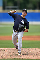 New York Yankees pitcher Brady Lail (11) during a minor league spring training game against the Toronto Blue Jays on March 24, 2015 at the Englebert Complex in Dunedin, Florida.  (Mike Janes/Four Seam Images)