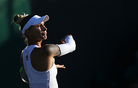 Polona Hercog (SLO) during her match against Madison Keys (USA) in their Ladies' Singles Second Round match<br /> <br /> Photographer Rob Newell/CameraSport<br /> <br /> Wimbledon Lawn Tennis Championships - Day 3 - Wednesday 3rd July 2019 -  All England Lawn Tennis and Croquet Club - Wimbledon - London - England<br /> <br /> World Copyright © 2019 CameraSport. All rights reserved. 43 Linden Ave. Countesthorpe. Leicester. England. LE8 5PG - Tel: +44 (0) 116 277 4147 - admin@camerasport.com - www.camerasport.com