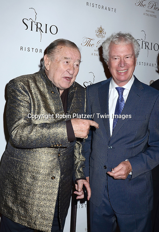 Sirio Maccioni and Ken Taylor attends the Sirio Ristorante New York opening in the Pierre Hotel, a TAJ Hotel on October 24, 2012 in New York City. Sirio Maccioni hosted the party