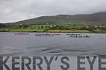Action from the early stages of the Seine Boat race at the Over the Water Regatta on Sunday with Sneem out in front, a lead they held right to the finish line.